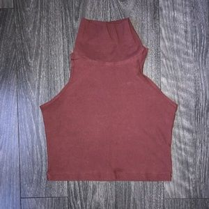American apparel cotton cropped turtle neck